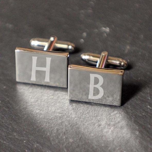 Personalised Rectangle Cufflinks with FREE gift box