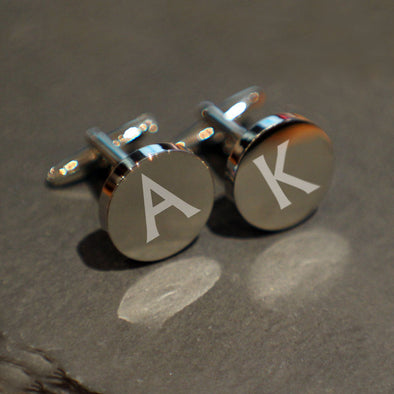 Personalised Round Cufflinks including gift box