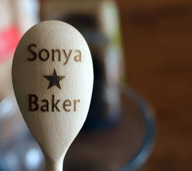 Personalised Star Baker Wooden Spoon - PersonalisedGoodies.co.uk