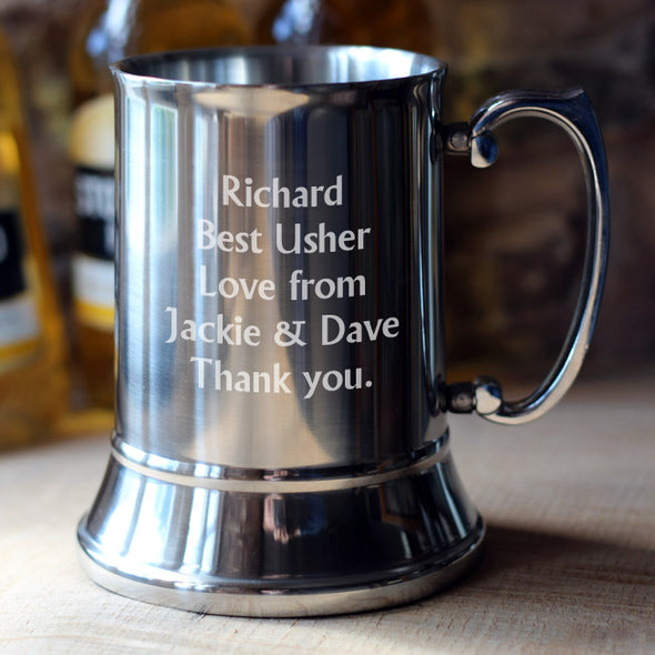 SLIGHT SECONDS Personalised Tankard