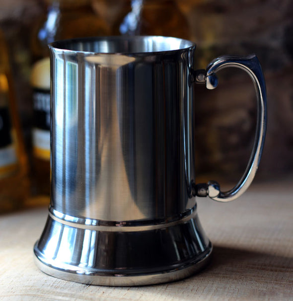 SLIGHT SECONDS Stainless Steel Tankard (non personalised)