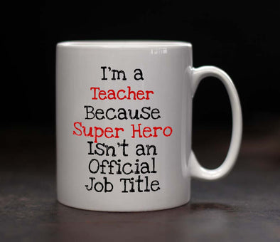 Personalised Teacher Superhero Mug
