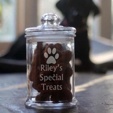 Personalised Dog Treat Jar with packet of Bonio's INCLUDED!!!