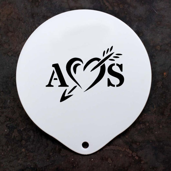 Personalised Valentine Heart Stencil - PersonalisedGoodies.co.uk