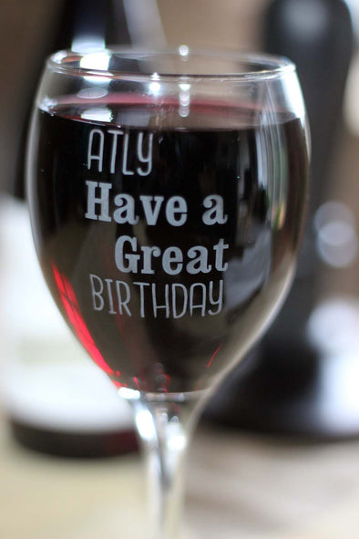 Personalised Engraved Birthday Wine Glass - PersonalisedGoodies.co.uk