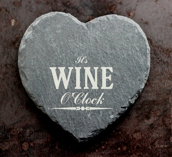 Personalised Wine O'Clock Coaster - PersonalisedGoodies.co.uk
