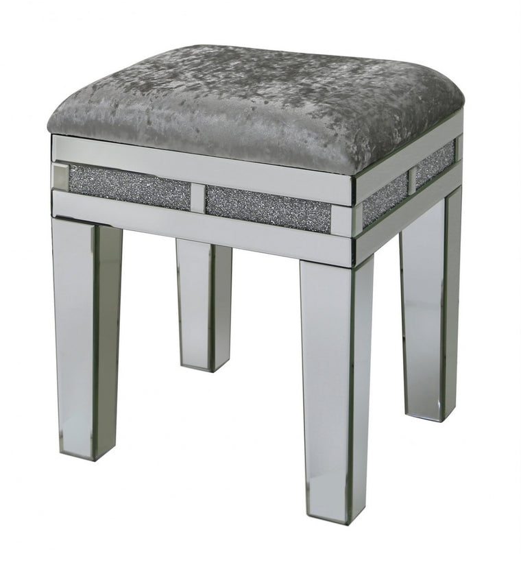 Milano Mirrored Stool