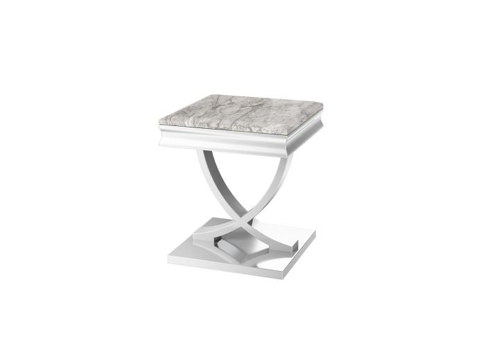 Torelli Maria Grey Marble Side Lamp Table - ImagineX Furniture & Interiors