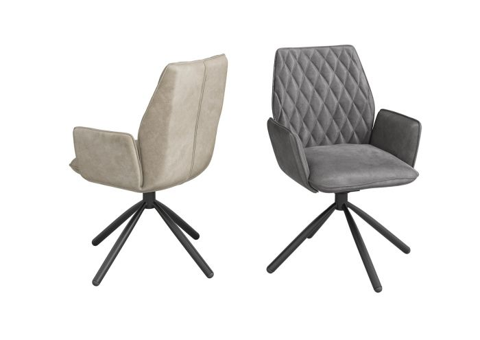Zanetti Dark Grey Velvet Dining Chair - ImagineX Furniture & Interiors