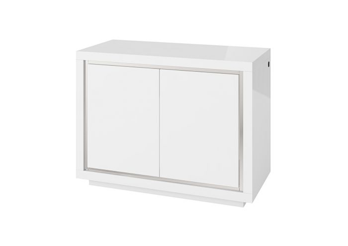 Sardinia 120cm 2 Door White High Gloss Sideboard With LED