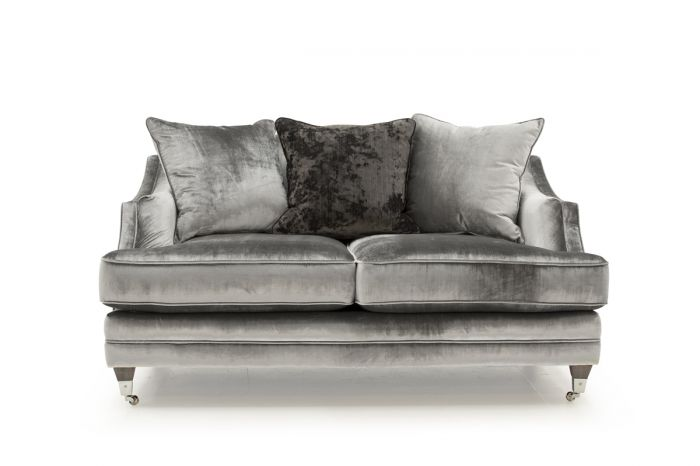 Belvedere 2 Seater Fabric Sofa with 3 Seater Scatter Cushions - Pewter