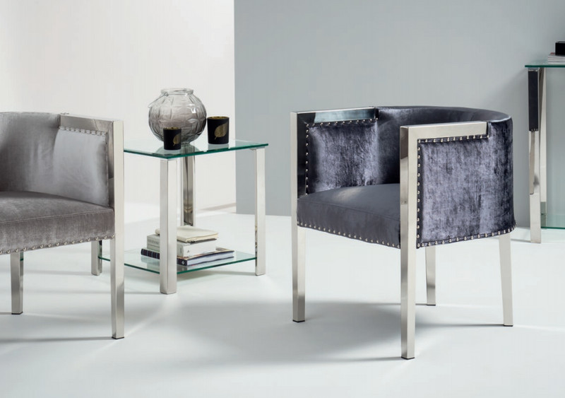 Anna Velvet Tub Chair - 2 Colours - ImagineX Furniture & Interiors