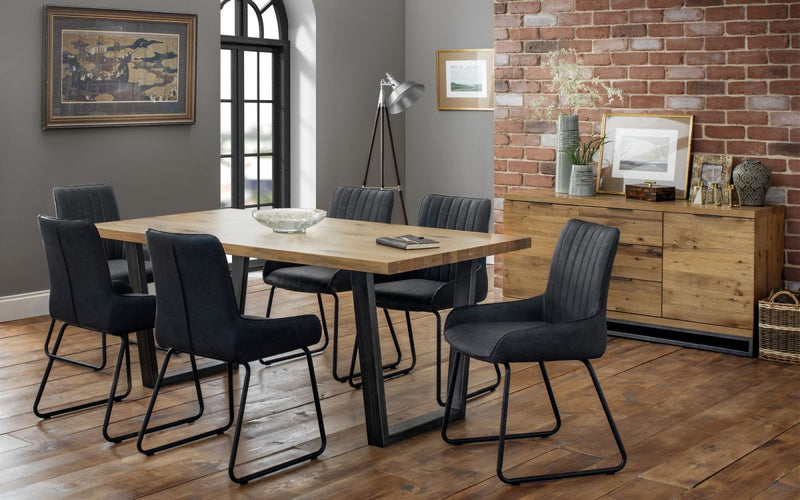 Julian Bowen Brooklyn & Soho Chair Dining Set - ImagineX Furniture & Interiors