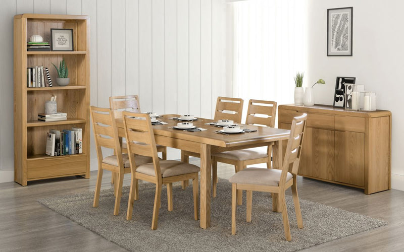 Julian Bowen Curve Extending Table Dining Set - ImagineX Furniture & Interiors