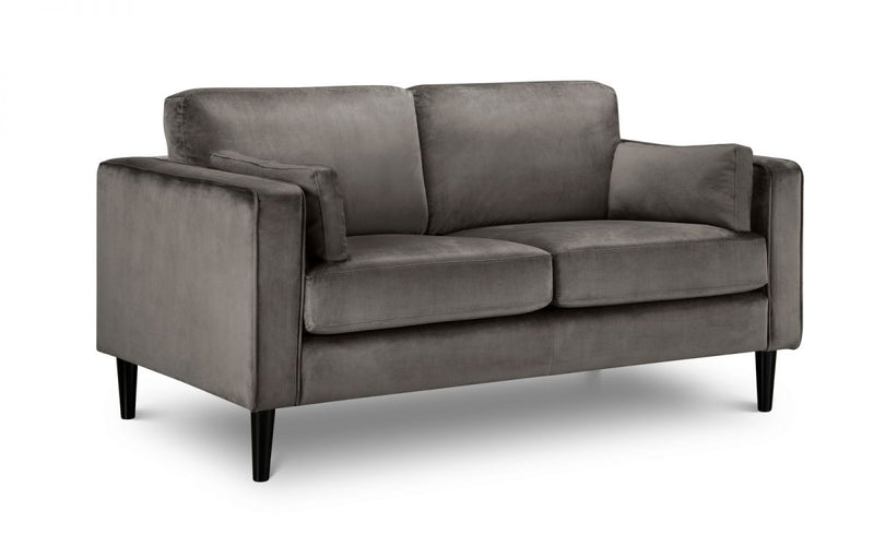 Julian Bowen Hayward Velvet 2 Seater Sofa - ImagineX Furniture & Interiors
