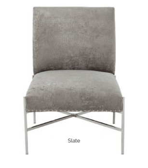 Mya Stainless Steel Chair - 2 Colours - ImagineX Furniture & Interiors