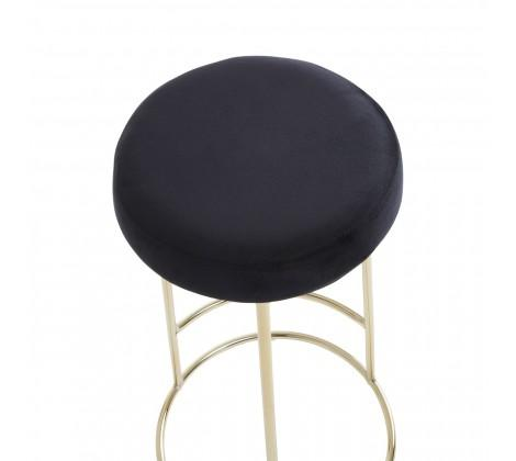 Manhattan Black Velvet Tall Bar Stool