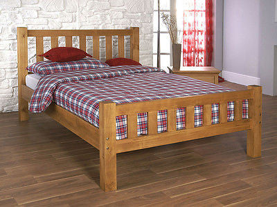 Astor Honeycomb Solid Pine Bed Frame In 4 Sizes - 3FT, 4FT, 4FT6, 5FT - ImagineX Furniture & Interiors