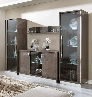 Platinum Day Italian Slim Glamour High Gloss Composition 4 - ImagineX Furniture & Interiors