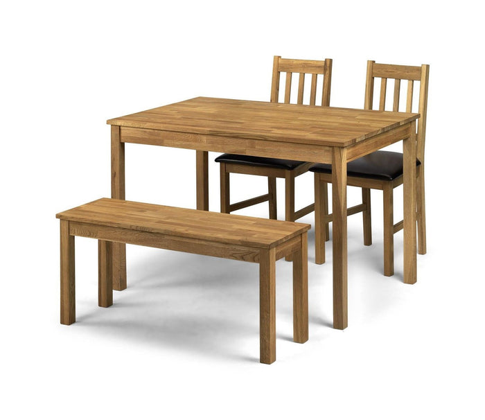 Julian Bowen Coxmoor Solid Wood American White Oak Large Rectangle Dining Table - ImagineX Furniture & Interiors