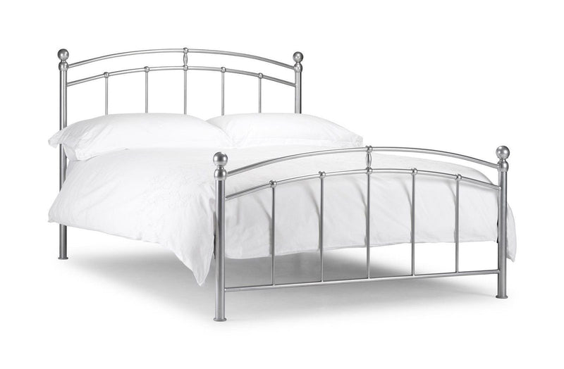 Julian Bowen Chatsworth 5'0 150cm King Size Aluminium Bed Frame - ImagineX Furniture & Interiors