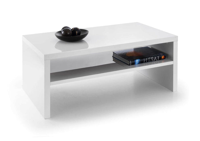 Julian Bowen Metro White High Rectangular Coffee Table - ImagineX Furniture & Interiors