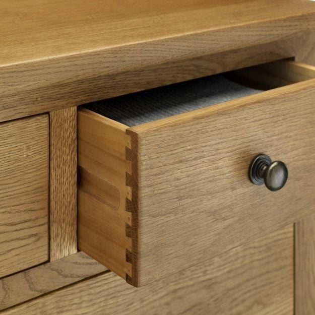 Julian Bowen Marlborough 4+2 Drawer White American Oak Chest of Drawers - ImagineX Furniture & Interiors