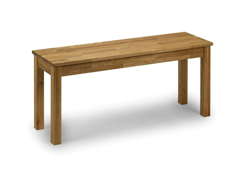 Julian Bowen Coxmoor Solid Wood American White Oak Oiled Bench - ImagineX Furniture & Interiors