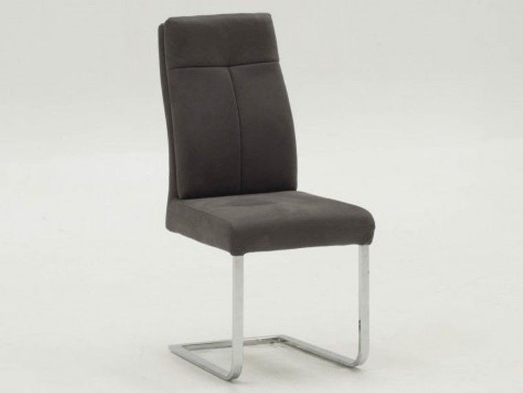 New Stunning Donatella Grey Volcara Fabric Dining Chair - (Pairs)