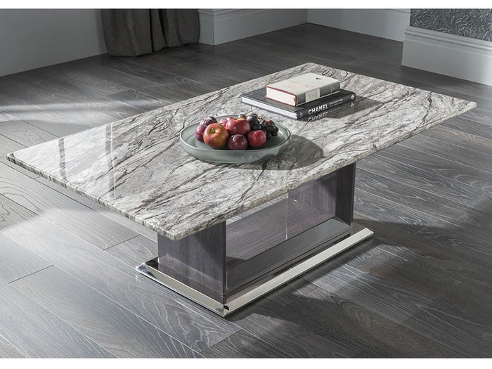 New Stunning Donatella Grey Marble Coffee Table - Living Room Furniture - ImagineX Furniture & Interiors