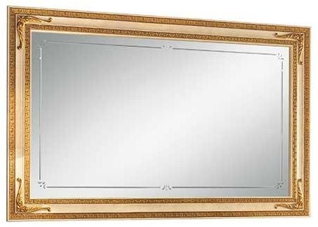 Leonardo Golden Italian Rectangular Small Mirror - ImagineX Furniture & Interiors