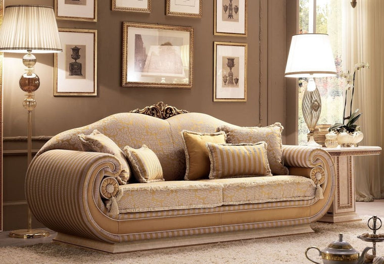 Leonardo Italian 3 Seater Fabric Sofa
