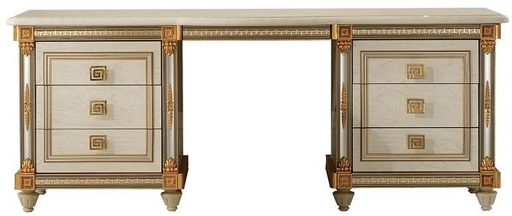 Liberty Ivory with Gold Italian Dressing Table - ImagineX Furniture & Interiors