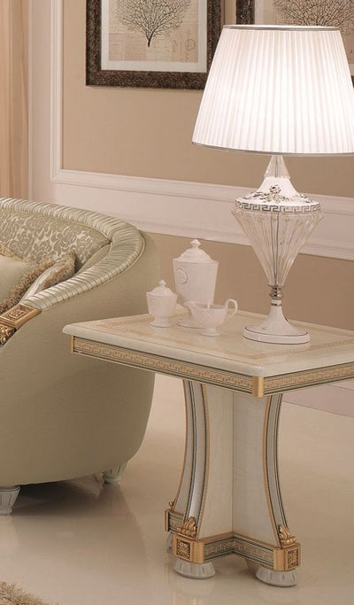 Liberty Ivory with Gold Italian Lamp Table - ImagineX Furniture & Interiors
