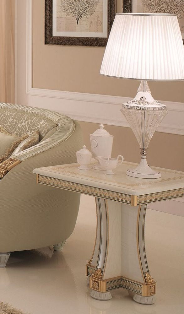 Liberty Ivory with Gold Italian Lamp Table