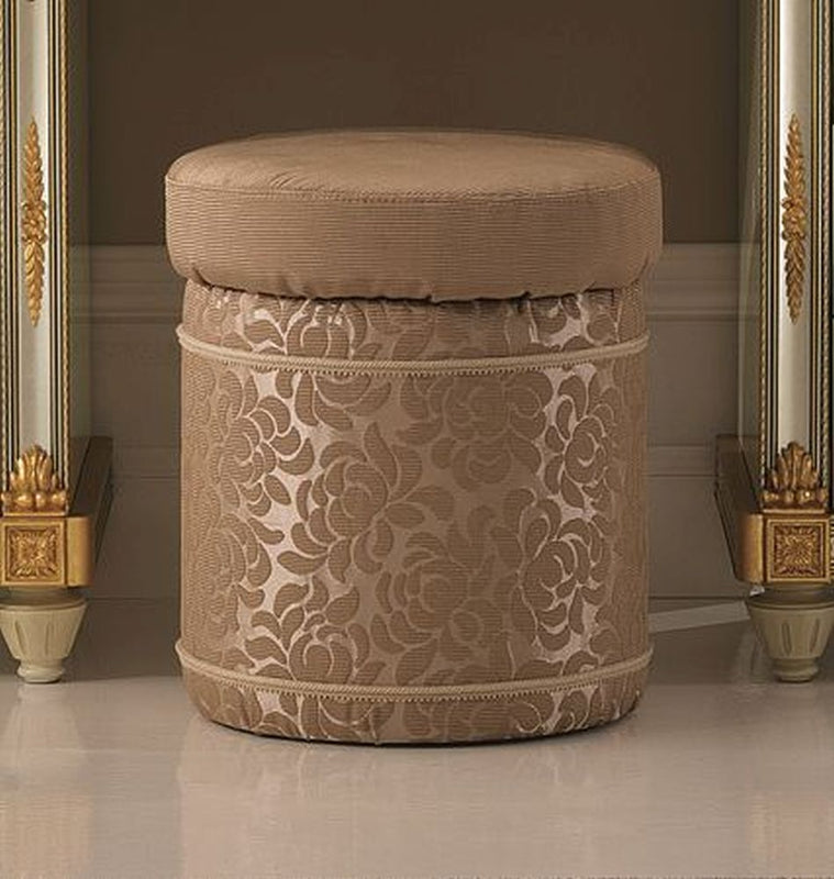 Liberty Italian Fabric Pouf - ImagineX Furniture & Interiors