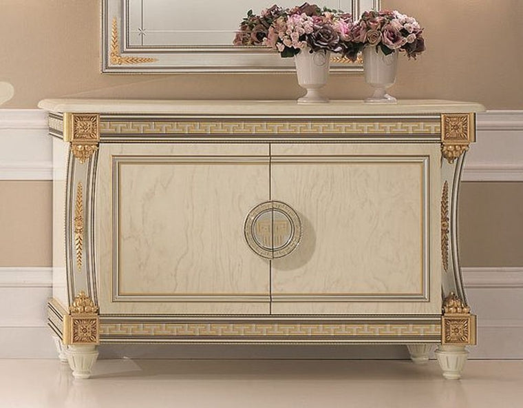 Liberty Ivory with Gold Italian 2 Door Medium Sideboard