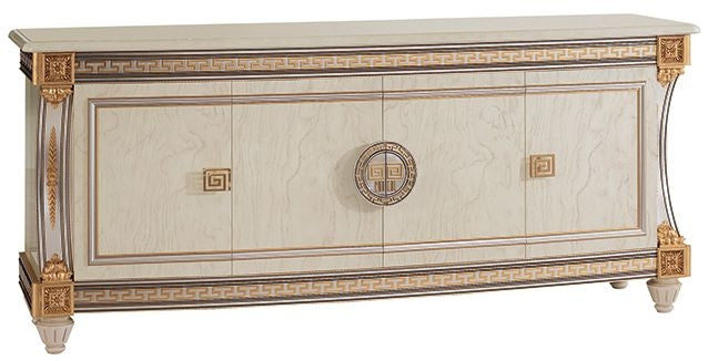 Liberty Ivory with Gold Italian 4 Door Wide Sideboard