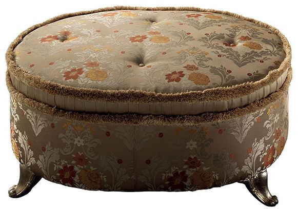 Liberty Italian Fabric Pouf Palace