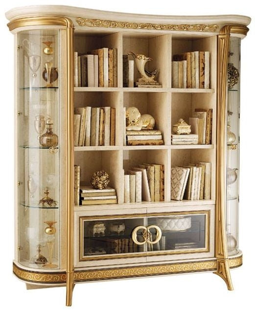 Melodia Golden Italian Bookcase