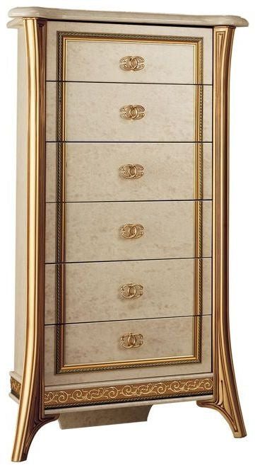 Melodia Golden Italian 7 Drawer Chest - ImagineX Furniture & Interiors