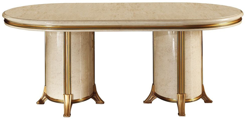Melodia Golden Italian Oval Extending Dining Table - 200cm-300cm - ImagineX Furniture & Interiors