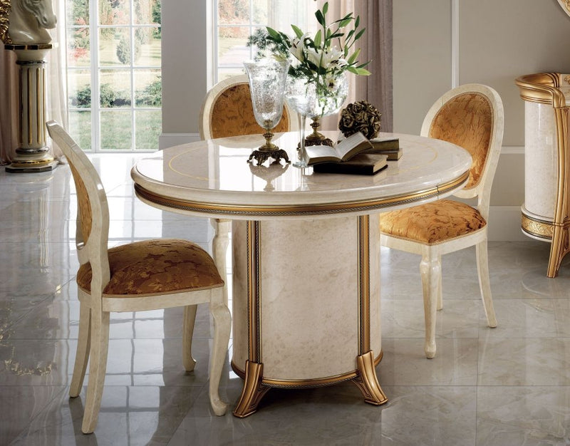 Melodia Golden Italian Round Dining Table - 158cm - ImagineX Furniture & Interiors
