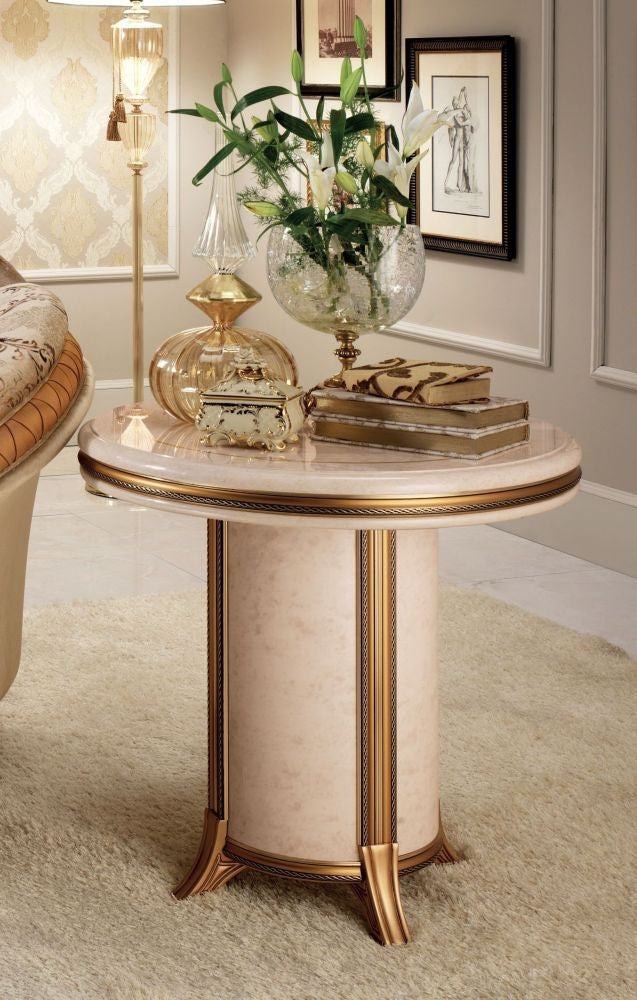 Melodia Golden Italian End Table - ImagineX Furniture & Interiors