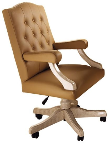 Melodia Golden Italian Office Armchair - ImagineX Furniture & Interiors