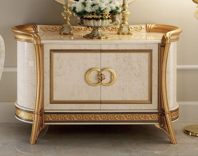 Melodia Golden Italian 2 Door Medium Sideboard - ImagineX Furniture & Interiors