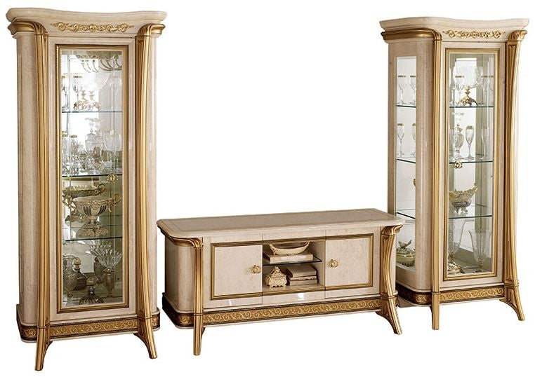Melodia Golden Italian 4 Door TV Set Composition - ImagineX Furniture & Interiors