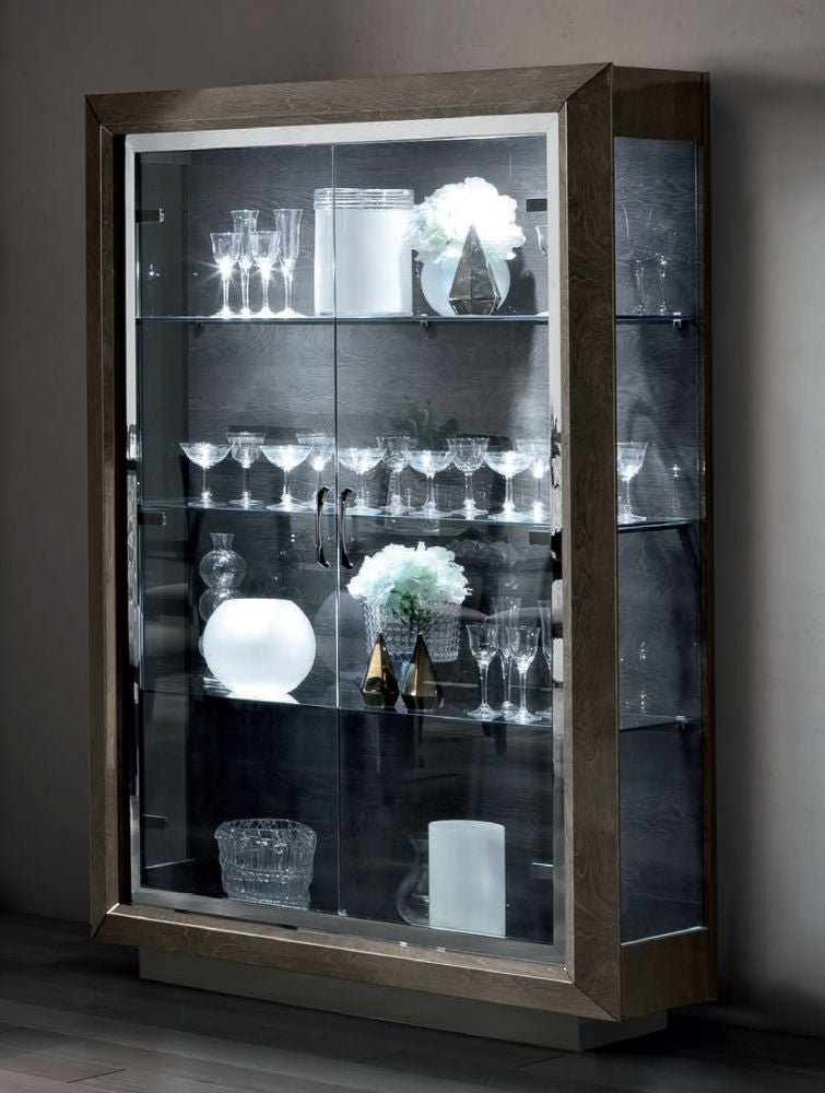 Camel Elite Day Italian 2 Door Vitrine Display Cabinet