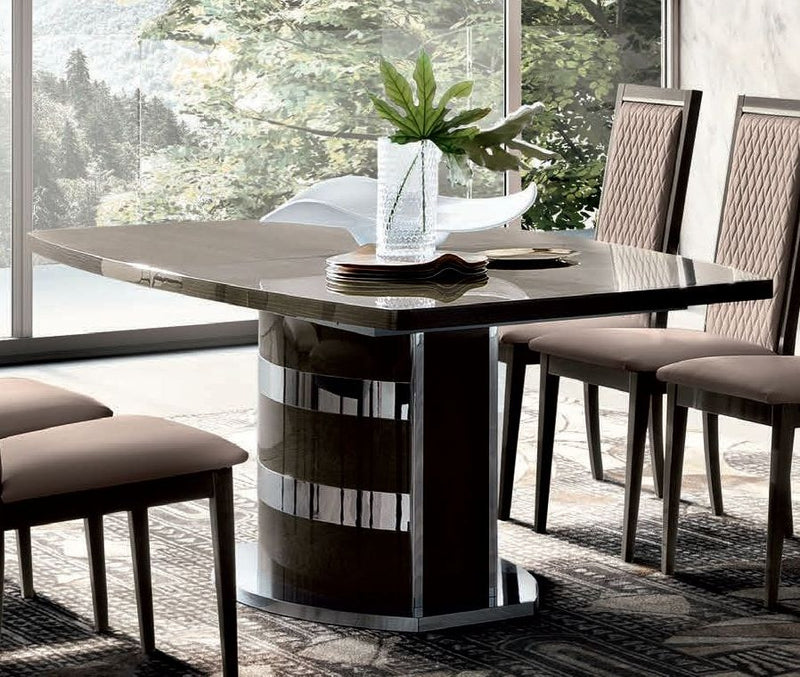 Camel Elite Day Italian Extending Rectangular Dining Table with Pedestal Base - 160/200cm - ImagineX Furniture & Interiors