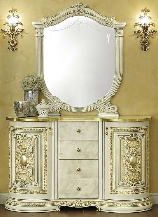 Leonardo Italian 2 Door Buffet + Small Mirror Set